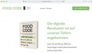 Screenshot der Website food-code.de